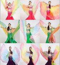 2019 wysokiej jakości taniec brzucha Isis Wings dla kobiet ładny styl egipski gradient taniec skrzydła na pokaz sceniczny rekwizyty IsisWings