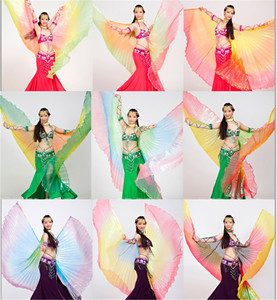 Image 1 - 2019 באיכות גבוהה בטן איזיס עבור נשים נחמד מצרים סגנון שיפוע צבע ריקוד כנפי עבור שלב להראות אבזרי isisWings