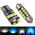 6pcs Car LED Light 12 Auto Lamp Bulb Interior Lights Package T10 & 42mm Map Dome + Registration Number Plate License Lamp