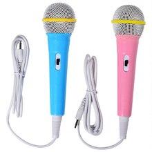 Enfants garçon fille cadeau de noël filaire Microphone Instrument de musique chant micro enfants drôle cadeau musique jouet Microphone jouet