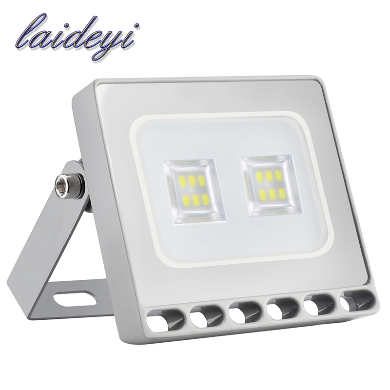 LAIDEYI Waterproof IP67 Outdoor Lighting <font><b>10W</b></font> 220V Ultra thin <font><b>LED</b></font> Flood Light <font><b>LED</b></font> <font><b>Reflector</b></font> Spotlight Projector Light Lamp 5PCS image