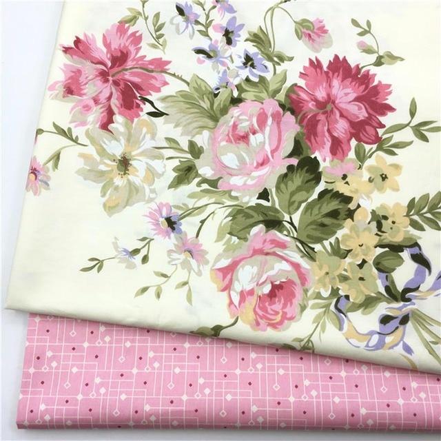 100 cotton twill elegant beige big pink flower floral fabric for 100 cotton twill elegant beige big pink flower floral fabric for diy bedding summer apparel mightylinksfo