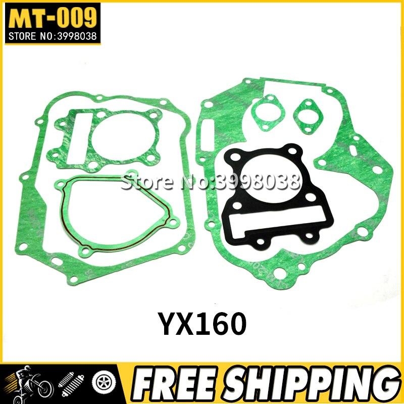 YinXiang YX 150cc / 160cc восстановленная прокладка для велосипеда грязи/двигателя велосипеда ямы YX150 YX160 головка двигателя Комплект прокладок компле...