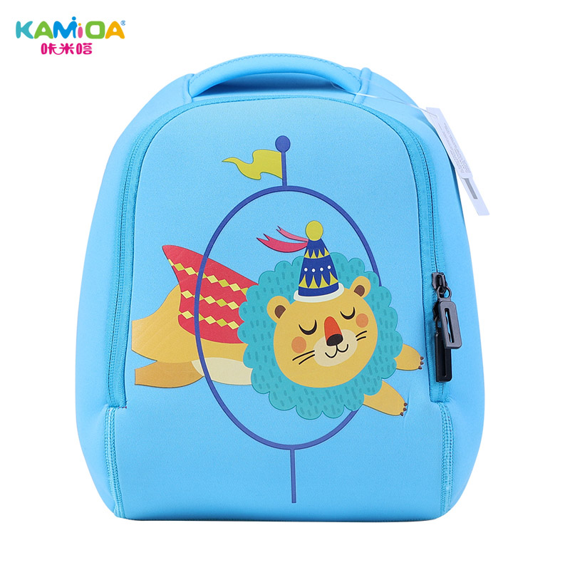 0291bcdf608 Blue Lion Kindergarten Backpack 3D Children s School Bags Super Light  Weight Loss Cute Cartoon Animal Shape Printing Schoolbag