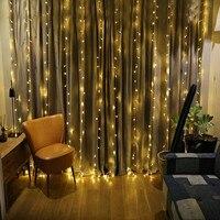 LED Fenster Vorhang Eiszapfen Lichter 300 LED String Lichterkette 8 Modi Weiß Weihnachten/Thanksgiving/Hochzeit/Party kulissen