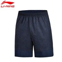 Li Ning Men S Running Track Shorts Polyester AT DRY Breathable LiNing Sports Shorts AKSM255 MKY299