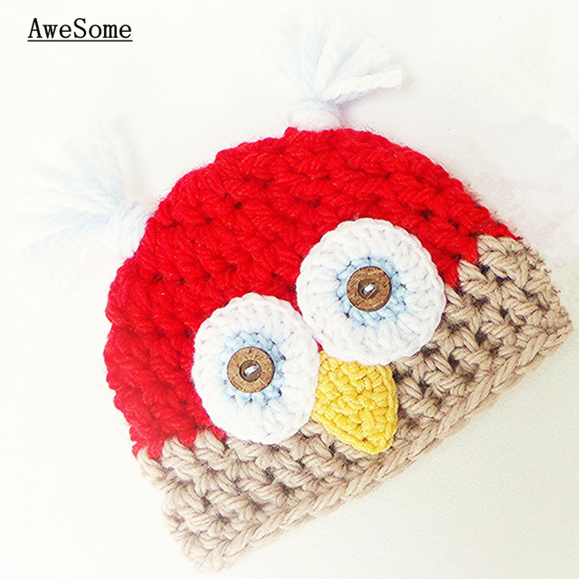 The Newest Red Owl Hat Patternhandmade Knit Crochet Baby Boy Girl
