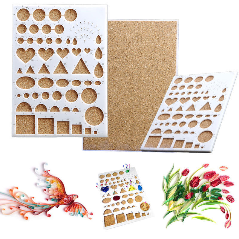 Paper Quilling Template Mould Board Papercraft DIY Crimper Craft Art Tool Paper Quilling Template for Wall Deco DIY Tools craft