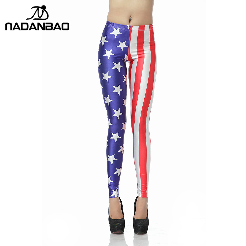 NADANBAO Hot Sale Women   Leggings   3d Digital National Flag   Legging   Fashion Slim Sexy Leggins Fitness Elasticity Women LegginPants