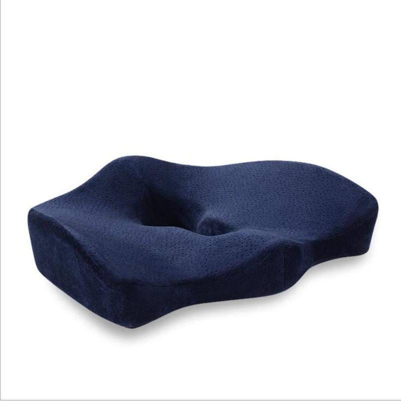 Orthopédique Coccyx mémoire mousse chaise oreiller bureau siège Pad voiture siège fauteuil roulant gros coussin tapis hémorroïde traiter