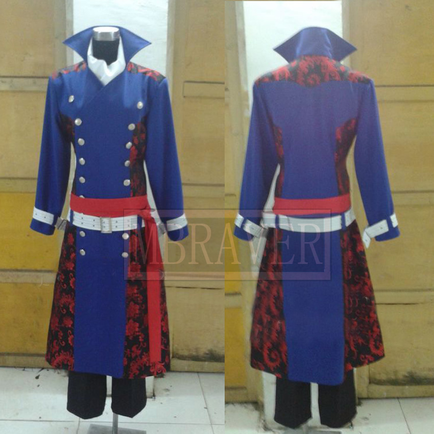 Free shipping New Arrival  Hakuouki Cosplay Chikage Kazama Costume Men Dresses