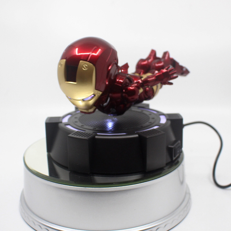 7 Inches Tony Stark Q-Version Floating, Flying LED MK7 Mark7 PVC Action Figure M66