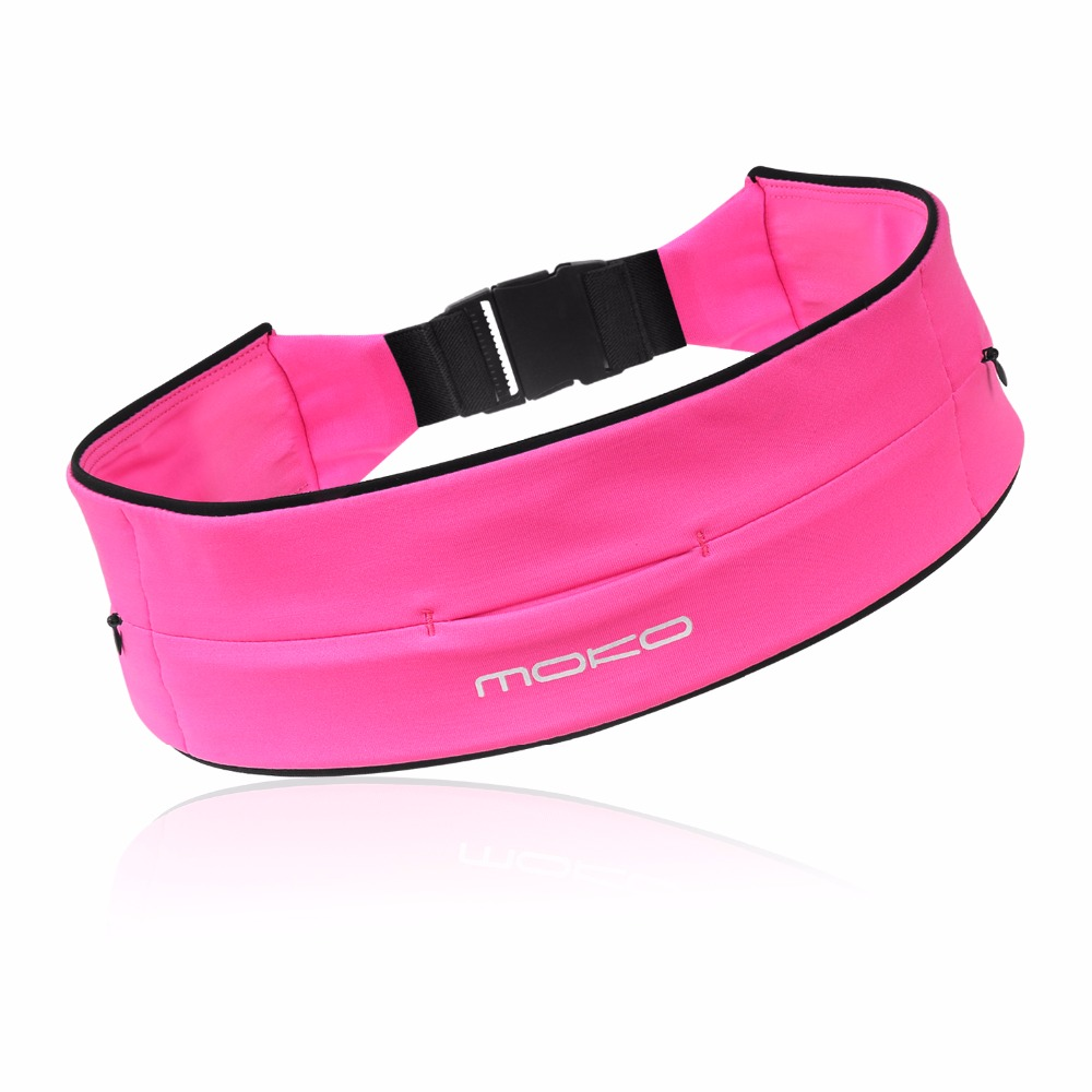 MoKo Runners Belt 3 Pockets Waist Bag Fanny Pack, Fitness Workout Belt For Men & Women, Hiking, Jogging, Travel, Fishing