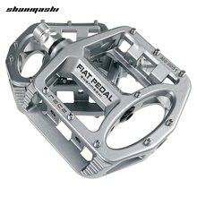 Shanmashi MG 5051 2PCS Flat Bicycle Pedal Racing Anti Slip Lightweight Magnesium Alloy Mountain Road Bike Pedals