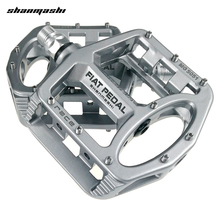 Shanmashi mg 5051 2 pcs 플랫 자전거 페달 레이싱 안티 슬립 경량 마그네슘 합금 산악 도로 자전거 페달