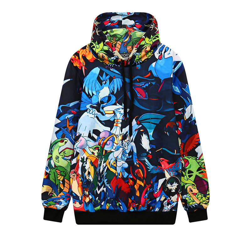 Anime Magical Bird 3D Print Graphic Hoodies Long Sleeve Sweatshirts Casual Pullovers Design Comfortable Sudaderas Outerwear Tops