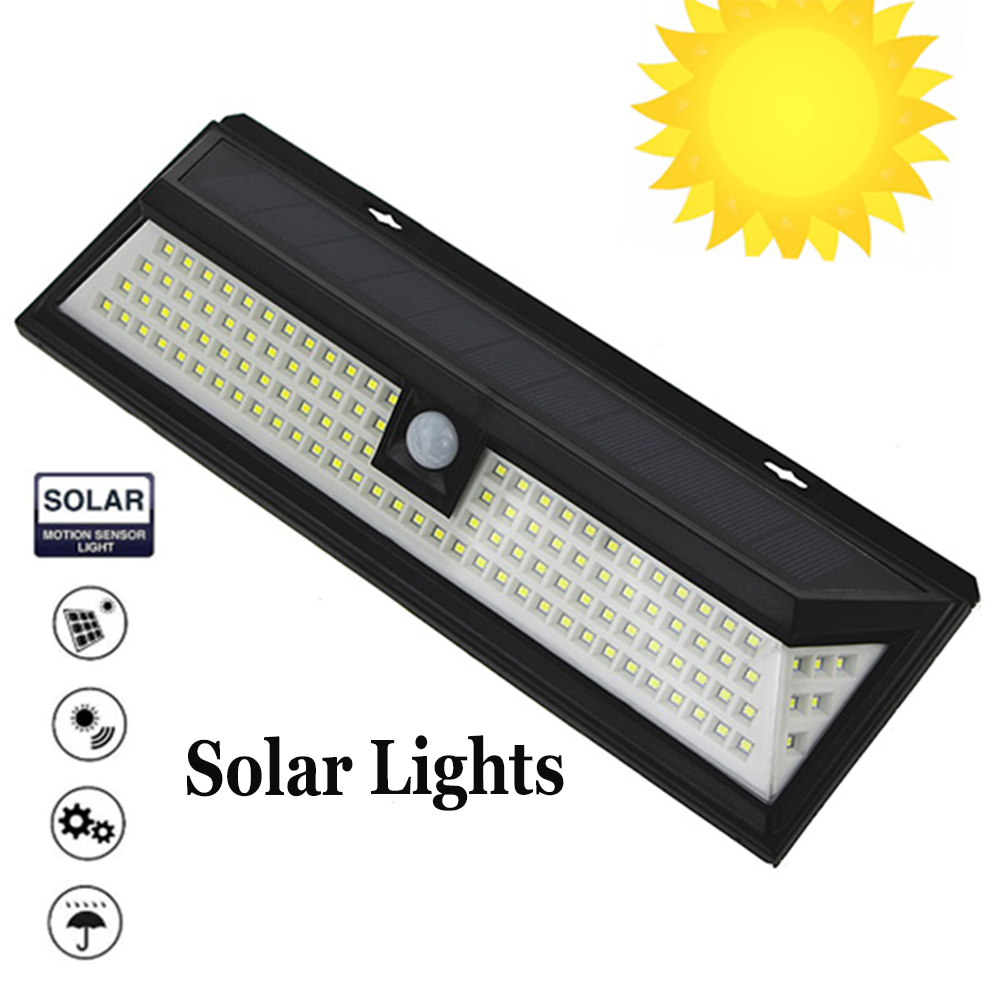 118 LEDS SOLAR WALL LAMPS light