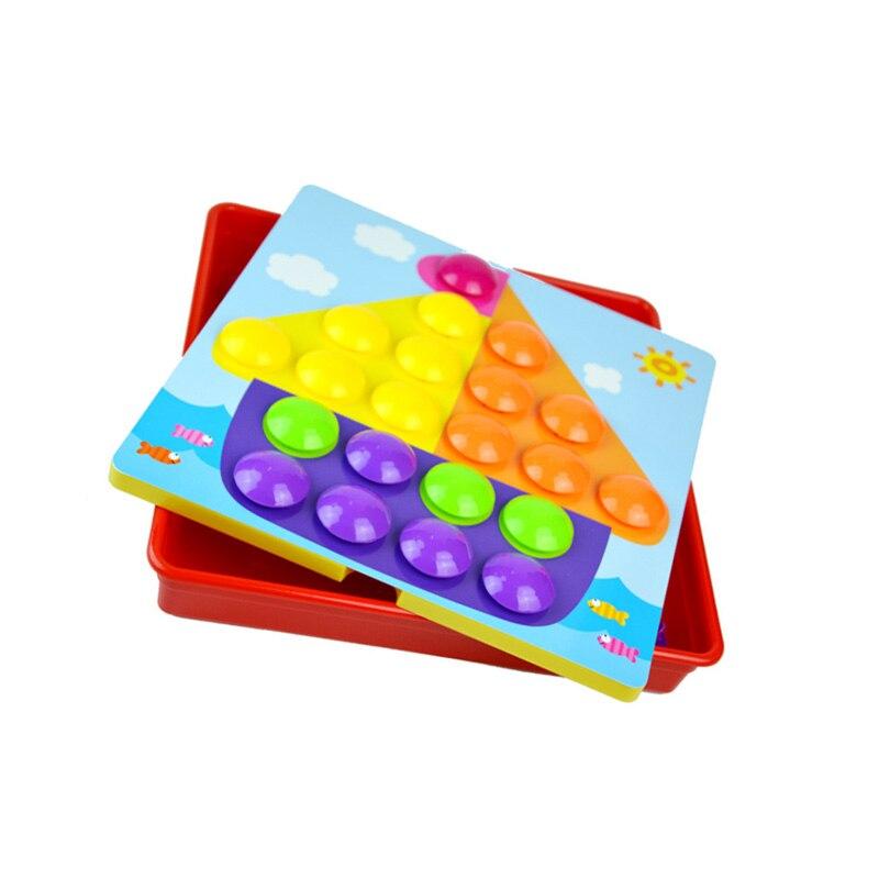 Mosaic Puzzle Pegboard with Tray Design Mushroom Pregs Jigsaw Games for Creativity Educational Felt Toy BM88