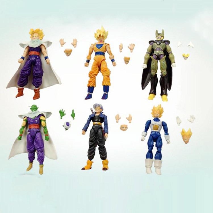 Toys & Hobbies Dashing 14-16cm 6pcs/set Dragon Ball Goku Joint Movable Action Figures Dragon Ball Dbz Anime Vegeta Gohan Super Saiyan Dragonball Model