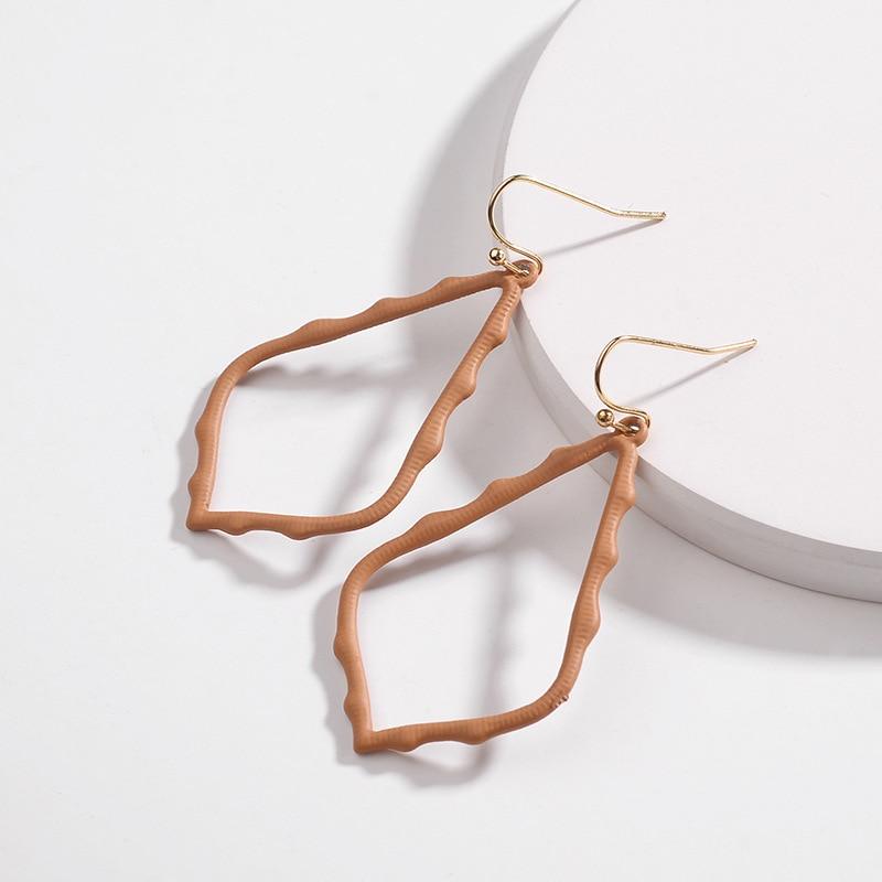 15 Colors Designer Frame Teardrop Earrings for Women Fashion Jewelry Painting Metal Water Drop Earrings Statement Earrings 24
