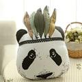 2016 Moda Bebê Brinquedos de Pelúcia Travesseiro Crianças Cama Quarto Sofa Decorativo Indiano almofadas em forma de animais Panda boneca das Crianças Melhor presente