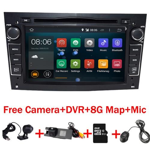 imágenes para HD 1024X600 de la Pantalla Táctil Android 7.1 Coches Reproductor de DVD para Opel Astra Vectra Antara Zafira Wifi 3G BT Radio USB SD Del Envío mapa