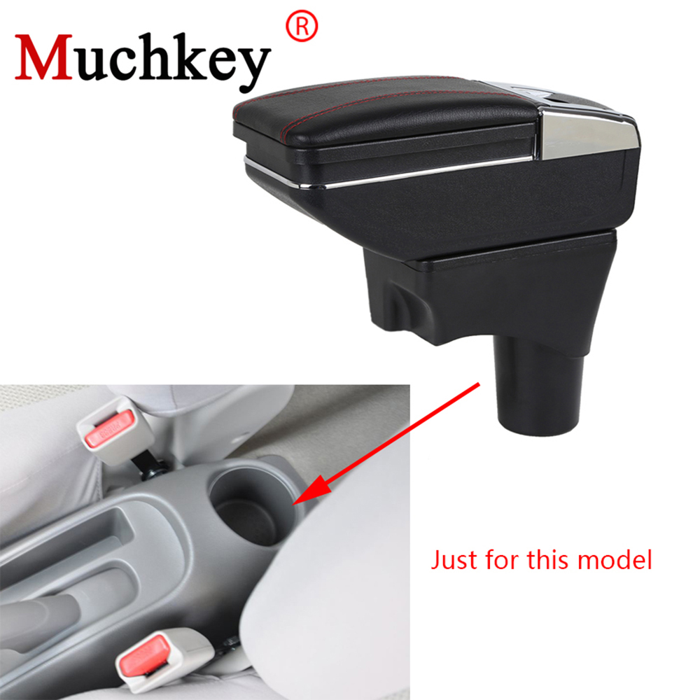 For Nissan micra/March Armrest Box Car Center Storage Box With Cup Holder Ashtray Stowing Tidying Arm Rest Rotatable Car-styling cawanerl car sealing strip kit weatherstrip rubber seal edging trim anti noise for nissan almera march micra note pixo platina