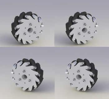 A set of 127mm Aluminum Mecanum Wheels Set Basic ( 2 Left, 2 Right)  14198 - DISCOUNT ITEM  0% OFF All Category