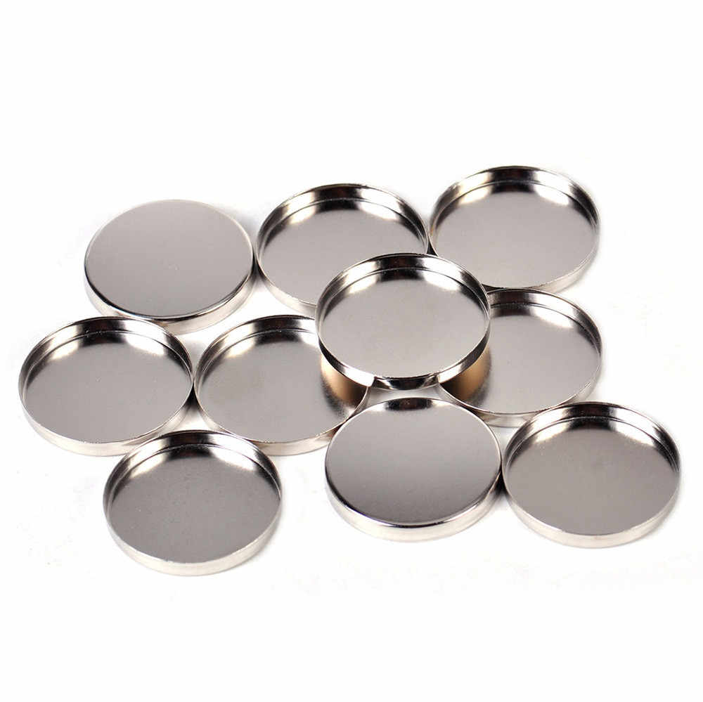 10 PCS Round Tin Pan Hot Sale Fashion DIY Refill 26 mm Empty Magnetic Eyeshadow Palette Plat Responsive to Magnets Tools 19L0711