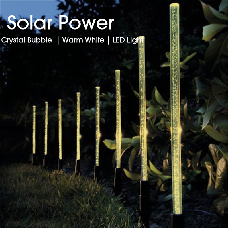 8 Garden Light LED Solar Outdoor Lawn Acrylic Gas Pressure Bubble Light Garden Lawn Landscape Decor Lamps String Lights Stake