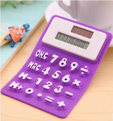 Calculadora Capaz De La Ciencia Calculadora Lovely Solar Gel De Sílice Mini Oficina Ordenador Papelería Ordenador Suave Deli Calculadora