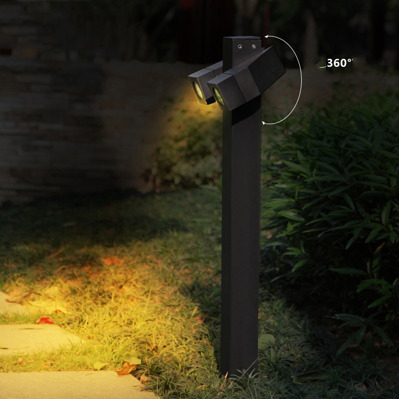 12 Вт Водонепроницаемый 360 градусов Регулируемый Открытый крыльцо светодиодные 85 265 В Алюминий проход дорожки стержень Свет Пала для сада
