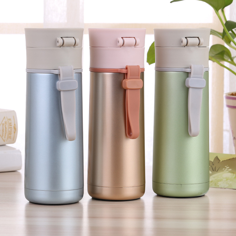 vilead nueva innovador moda recta botella de agua caliente de vaco termos de acero inoxidable