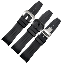 Rubber Watchband Belt For Tissot 1853 T035 T055 Watch Strap Bracelets Butterfly Buckle Replacement 23mm цена и фото