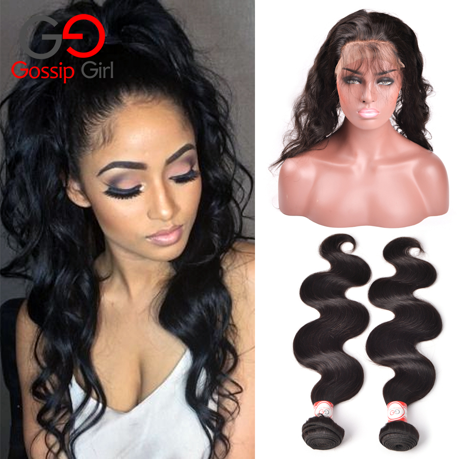 360 Lace Frontal With Bundle Brazilian Body Wave Pre Plucked 360 Frontal With Bundles 7A Mink Brazilian Virgin Hair With Closure