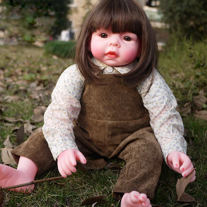 55cm 22 Doll Reborn Baby Babies Brown Limited Silicone Handcraft Custom Lifelike Realistic Kids Partners Birth Art приправа kotanyi для свинины