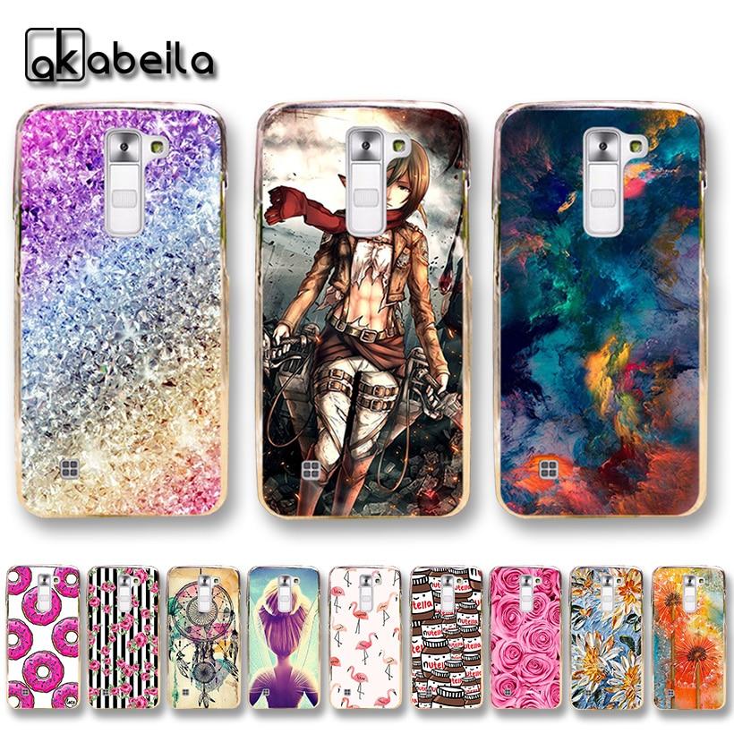 AKABEILA Soft TPU Plastic Phone Cases For LG K7 LTE Tribute 5 LS675 MS330 K7 Dual SIM K7 M1 Covers Nutella Flamingo Bags Back