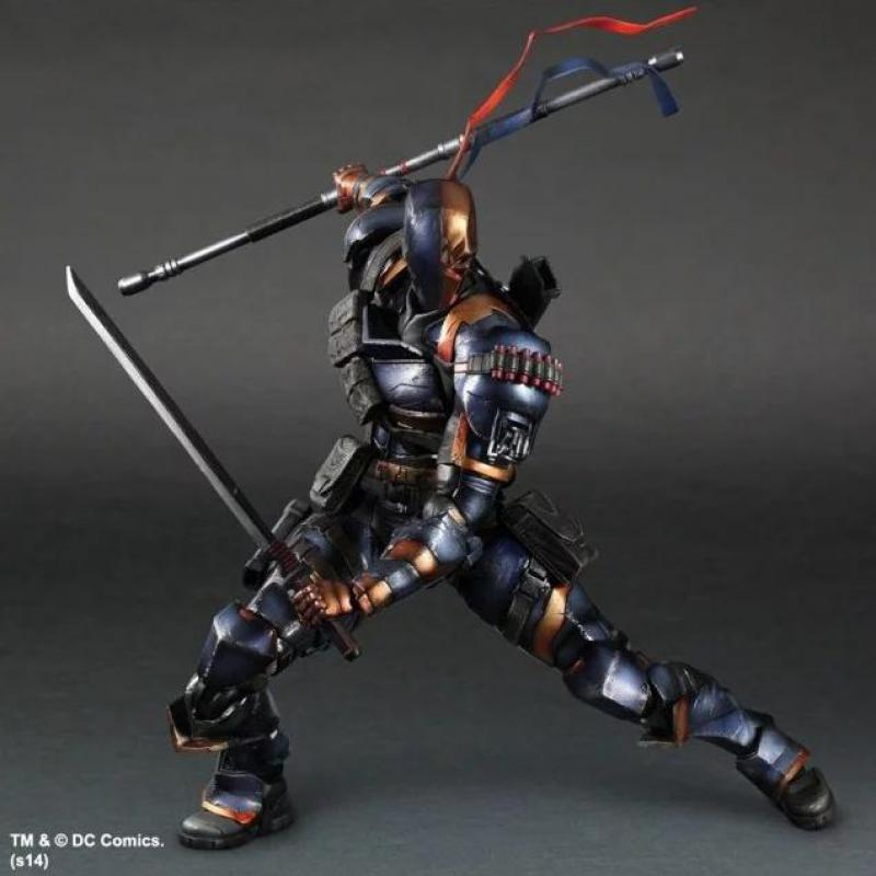 Play Arts Batman Arkham Origins Deathstroke Action Figures PA Doll Toys 25cm