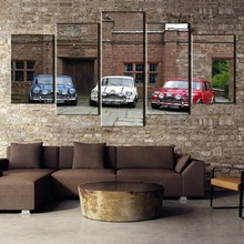 5 Pieces HD Printed MiNi Car Print Picture Poster Painting Canvas Wall Art Home Decoration Living Room