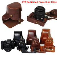 New PU Leather Camera Case Cover for Fujifilm X T2 XT 2 Fuji XT2 Camera with Strap Battery Openning Lens Cap Battery Storage Bag
