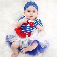 На день рождения для маленьких девочек одежда для крещения; Комплект; юбка-пачка; пышная юбка; костюмы для малышей одежда для малышей, для младенцев, Костюмы комплекты комбинезон повязка на голову, юбка-пачка Bebes