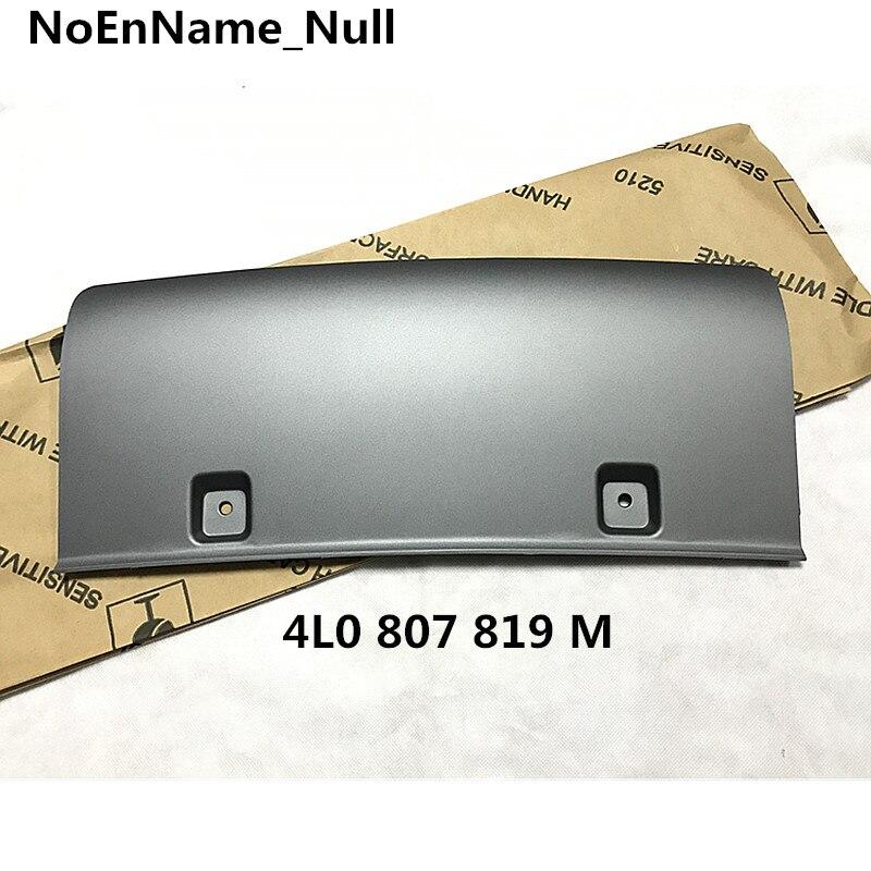 FOR Audi Q7 rear trailer intermediate cover, rear bumper guard plate, trailer hook cover plate 4L0 807 819 M engine guard plate steel car bottom plate guard plate for audi a4l