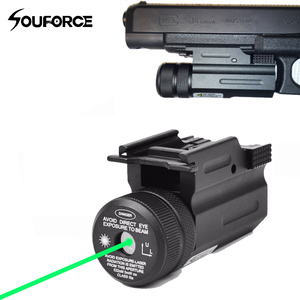 Тактический лазерный прицел QD с зеленой точкой, рельсовое крепление 20 мм для пистолета и страйкбольной винтовки Glock 17 19 22