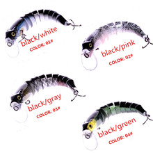 New Multi Jointed Bass Fishing Lure Lifelike 9 Section Swimbait Crankbait Hard Bait Fish Lure Fishing Tackle 130mm 28g
