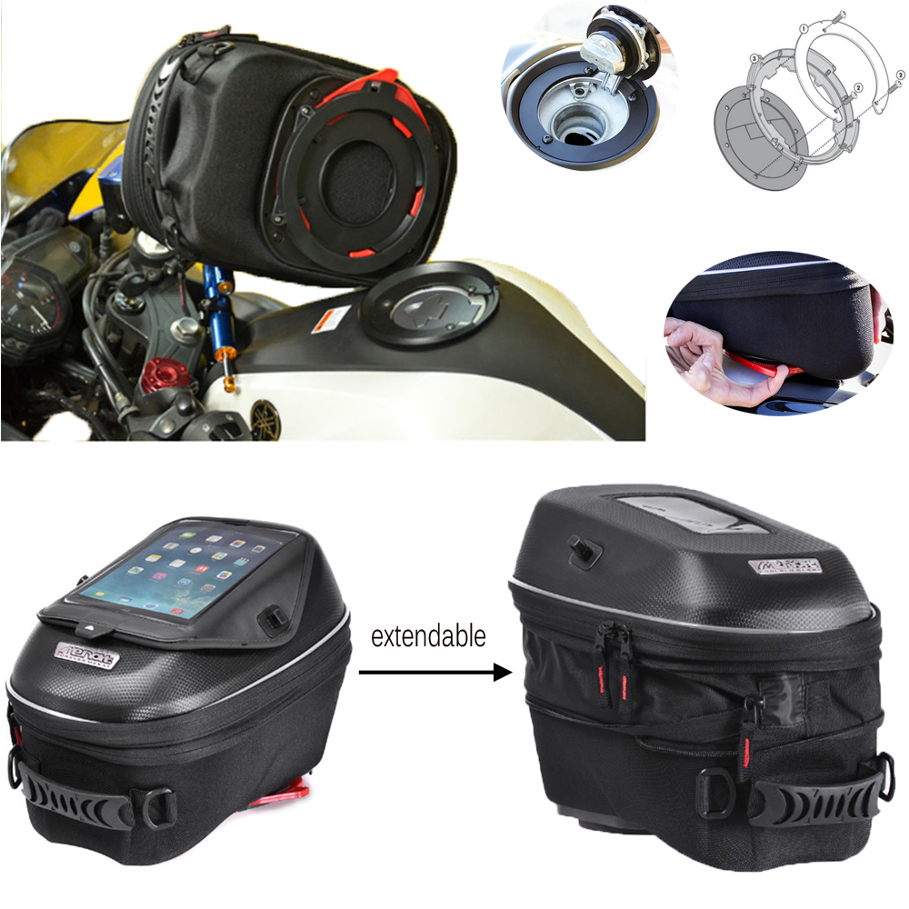 Motorcycle Expandable Magnet and Tanklock Tank Bag Racing Backpack for Benelli BN600/899 K / Tre 1130 K motorcycle expandable magnet and mechanical ring fix tank bag racing backpack for benelli bn600 tre 899 k