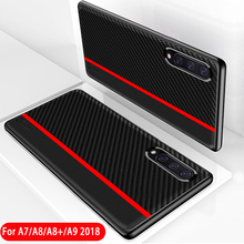 For Samsung Galaxy A7 2018 Case Carbon Fiber Leather Protection Cover for A9 Pro A8 Plus A9S A920A