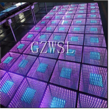 3*3m Nightclub Disco Deep Tunnel 3D Infinity used Led Flooring led dance floor with