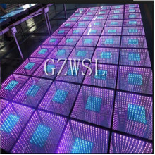3*3m Nightclub Disco Deep Tunnel 3D Infinity used Led Flooring led dance floor with Controller for sale(China)