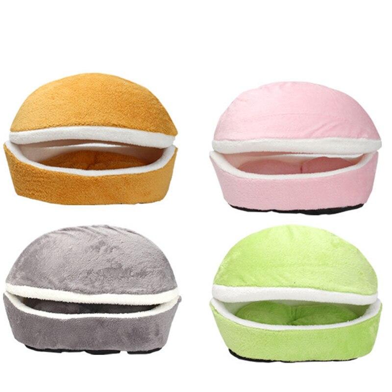 Soft Cat Bed Dog House Hamburger Bed Sleeping Bag Disassemblability Windproof Pet Puppy Nest Multipurpose Hiding