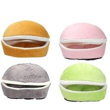 Мягкий домик-кровать для собаки, спальный мешок для гамбургера, разборка, ветронепроницаемый питомец, щенячье гнездо, многофункциональная подушка для скрывания PD0053